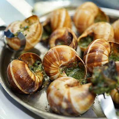 Snails from Bourgogne with stuffed garlic and parsley butter